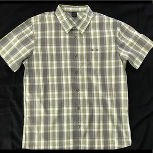 Mens Oakley Button Down Short Sleeve Shirt Size L